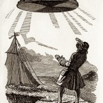 Looking up. Image: J.J. Grandville (Jean Ignace Isidore Gérard) Voyages de Gulliver, Fournier, 1838. Via skladba.blogspot.