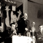Clement Atlee opens the Whitechapel exhibition of 'Guernica' in January 1939. Image: Whitechapel Gallery.